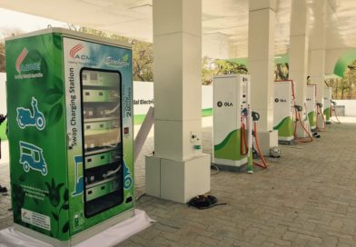 An EV Charging Station in India