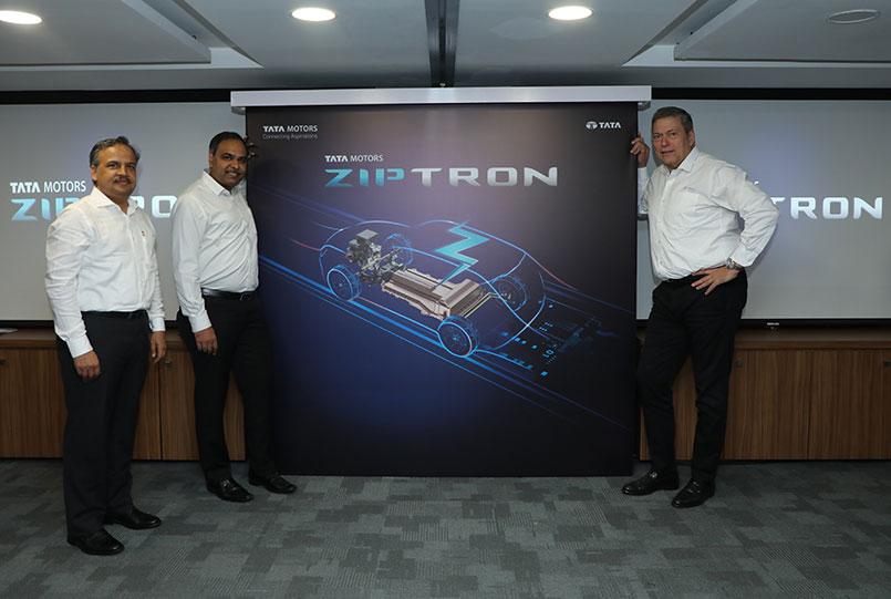 TATA Motors officials at Ziptron Launch