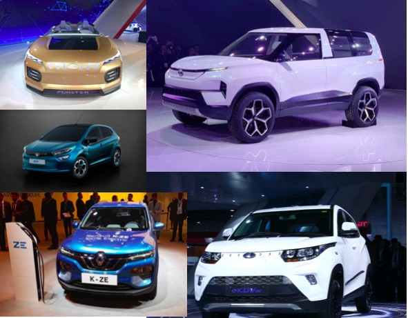 Electric cars at autoexpo