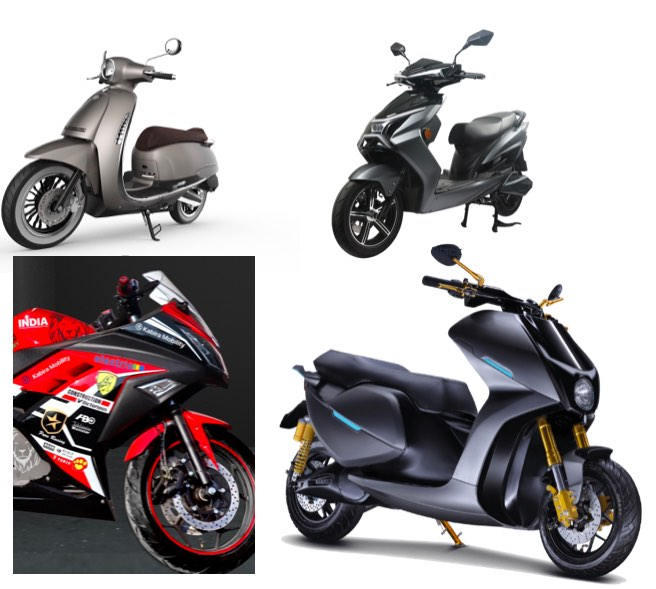 A list of  electric two wheelers showcased at AutoExpo 2020
