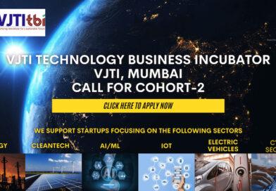 VJTI TBI invites start-ups to apply for incubation support – applications open till Jan 31, 2021